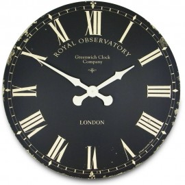 Greenwich Black Wall Clock 70cm