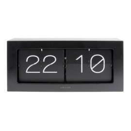 Flip Box Black Table Clock 37cm