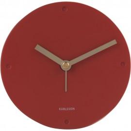 Mantel Polyresin Clay Brown Alram Clock 12cm