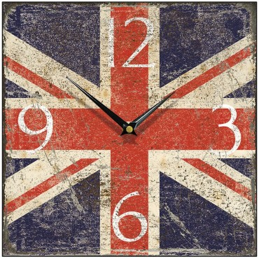 Shabby Union Jack Wall Clock 28.5cm