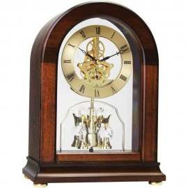 Arch Top Skeleton Mantel Clock 26cm