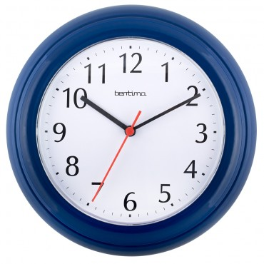Wycombe Blue Wall Clock 22.5cm