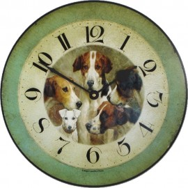 Dogs Wall Clock 36cm