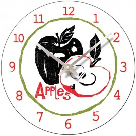 Perkins & Morely Tooty Frooty Apples Wall Clock 28.5cm