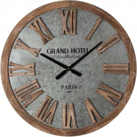 Galvanised Metal Round Wall Clock 62cm