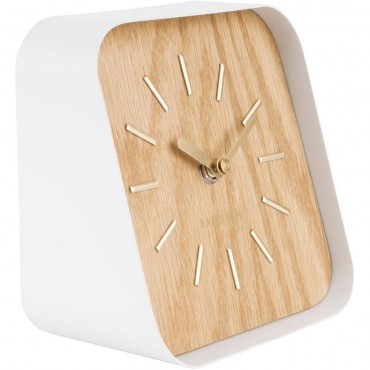 Squared Light Wood Table Clock 15cm
