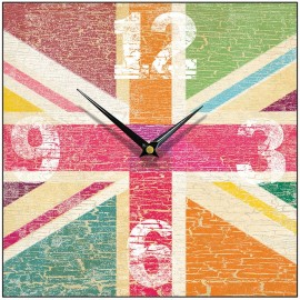 Tutti-Frutti Union Jack Wall Clock 28.5cm