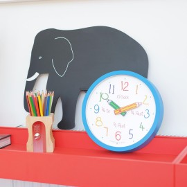 Blue Colouring Box Wall Clock 25.5cm