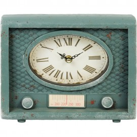 Mantel Clock Old Fashioned Radio 24cm