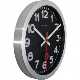 Station Black Wall Clock 35cm
