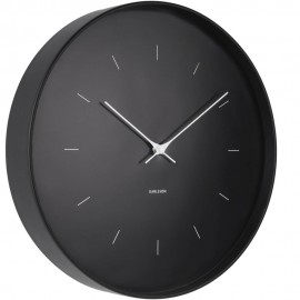Butterfly Black Wall Clock 37.5cm