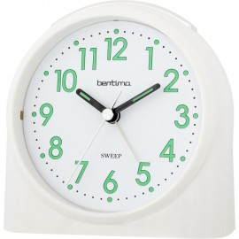 Sweeper One White Alarm Clock 10.5cm