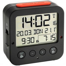Bingo Radio Controlled Alarm Clock with Thermometer 8cm