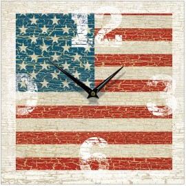 Vintage Usa Flag Wall Clock 28.5cm