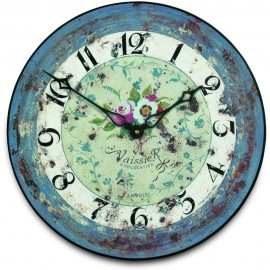 Antique Rose Wall Clock 36cm