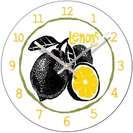 Perkins & Morely Tooty Frooty Lemons Wall Clock 28.5cm