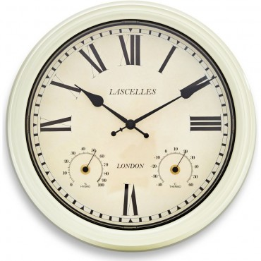 Lascelles Thermo/Hygro Outdoor Wall Clock 36cm