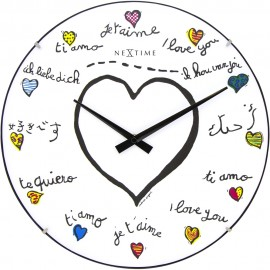 Loving You Dome Wall Clock 35cm