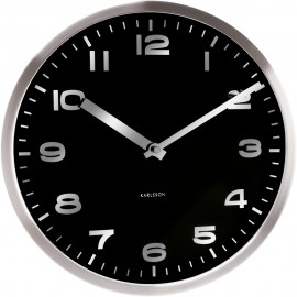 Mirror Numbers Wall Clock 29cm