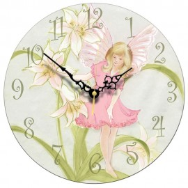 Pink Fairy Wall Clock 28.5cm