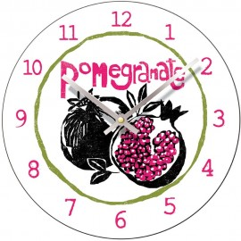 Perkins & Morely Tooty Frooty Pomegranate Wall Clock 28.5cm