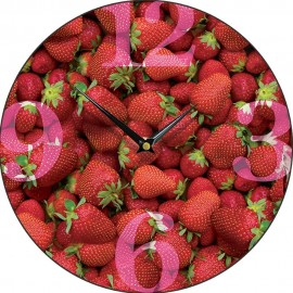 Strawberry Wall Clock 28.5cm