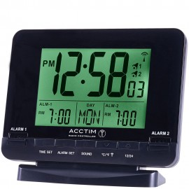 Delaware Radio Controlled Digital Dual Alarm Clock 12cm