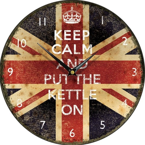 Keep Calm And Put The Kettle On Wall Clock 28.5cm