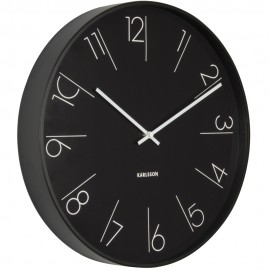 Elegant Numbers Black Wall Clock 40cm