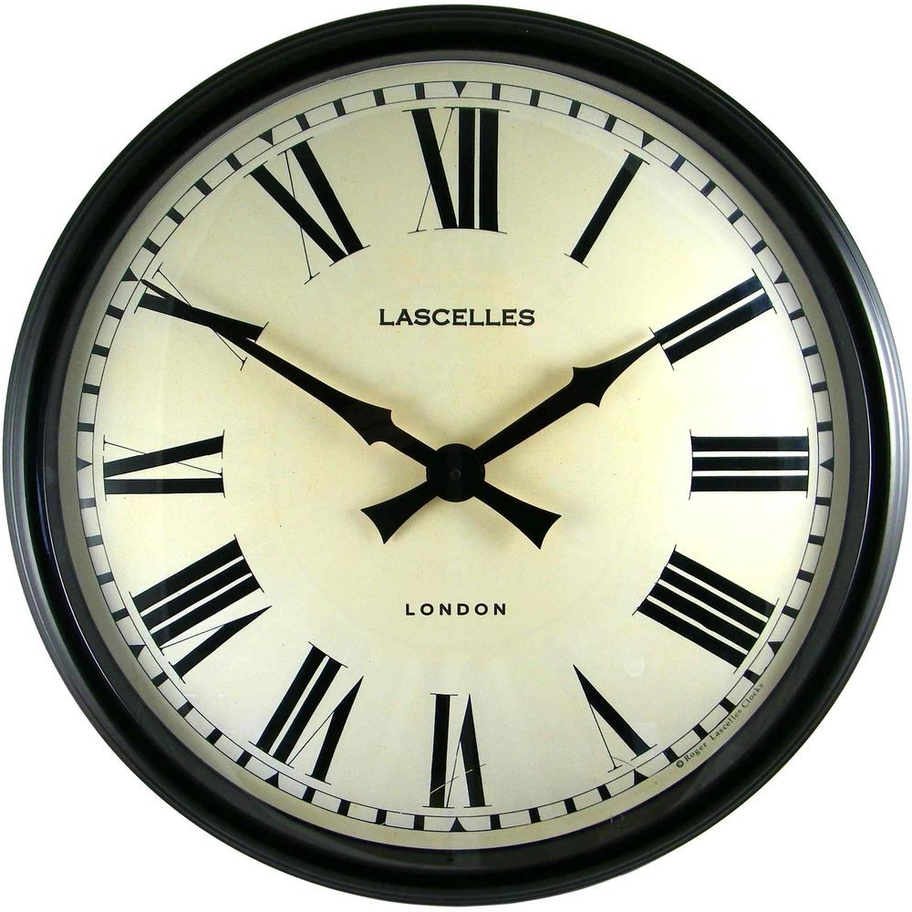 Designer Black Wall Clock 58cm