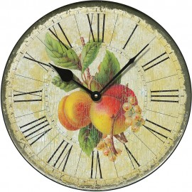 Shabby Chic Apricots Wall Clock 36cm