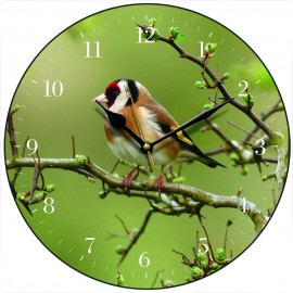 Goldfinch Wall Clock 28.5cm
