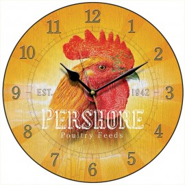 Pershore's Poultry Feed Wall Clock 28.5cm