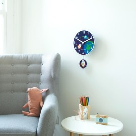 Rocket Wall Clock With Pendulum 40cm