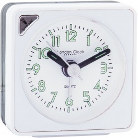 White Mini Travel Alarm Clock 6cm