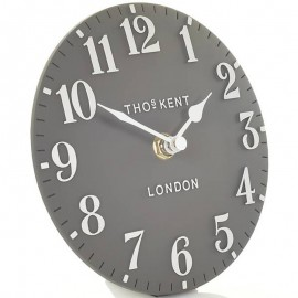 Arabic Flint Grey Mantel Clock 15cm
