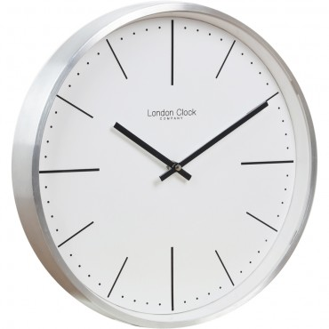Silver Chrome Case Wall Clock 30cm