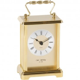 Carriage Clock - 2 tone gilt dial 9cm