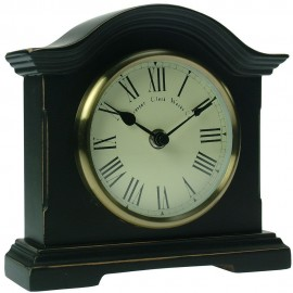 Falkenberg Black Mantel Clock 18cm