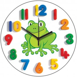 Happy Frog Childrens Wall Clock 28.5cm