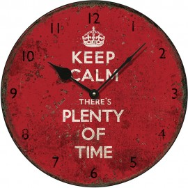 Keep Calm Wall Clock 28.5cm, 36cm or 45cm