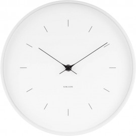 Butterfly White Wall Clock 27.5cm