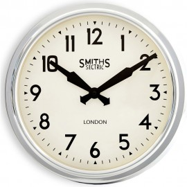 Smiths Retro Retro Arabic Chrome Wall Clock 38cm