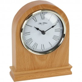 Wooden Mantel Clock Arched 14cm