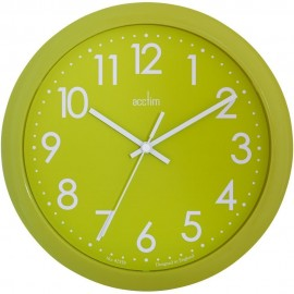 Abingdon Lime Green Wall Clock 25.5cm