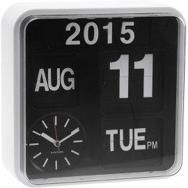 Mini Flip Wall Clock With White Casing 24.5cm