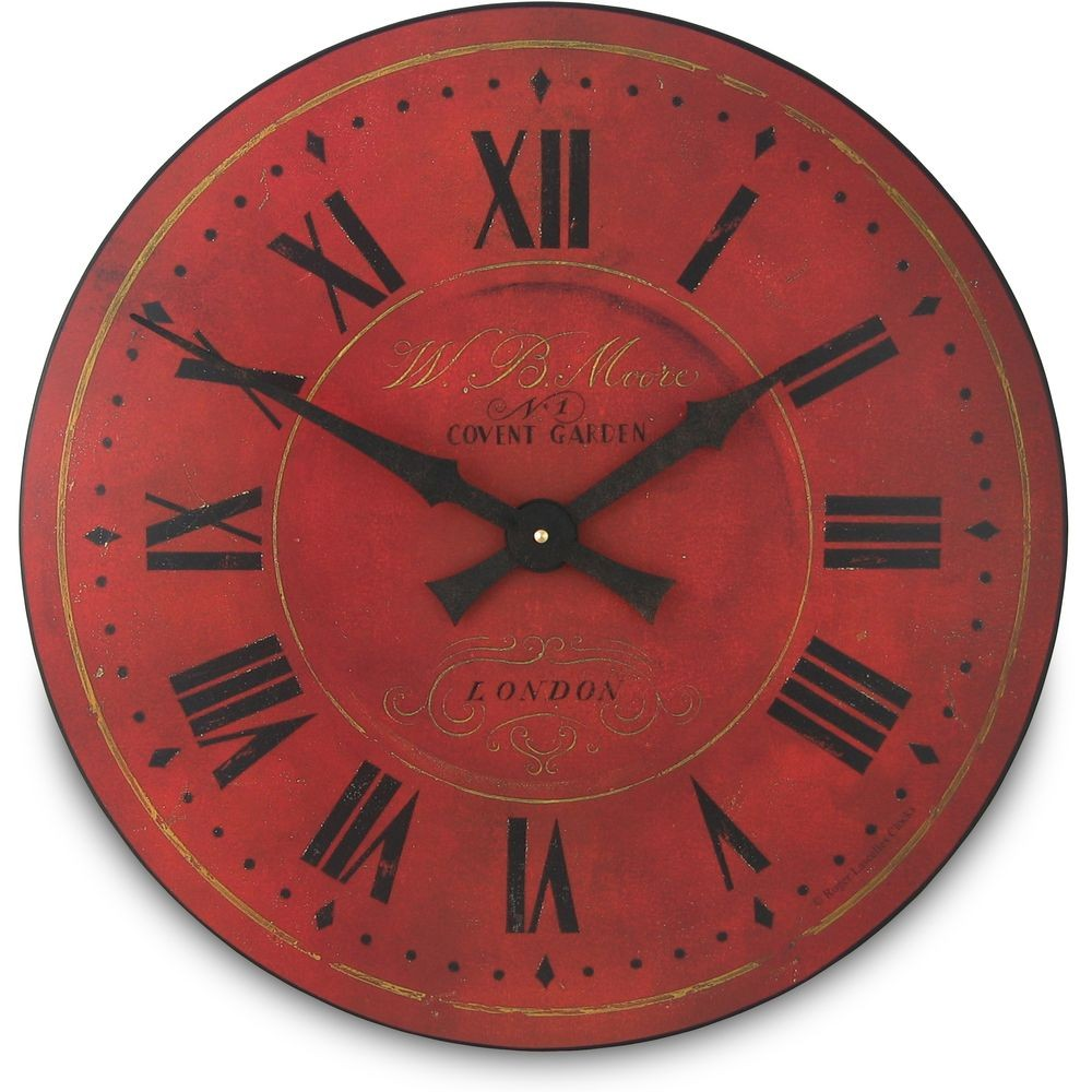 Red London Wall Clock 36cm