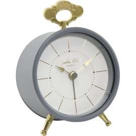 Tilly Charcoal Alarm Clock 13cm