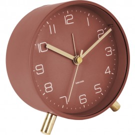 Lofty Metal Matt Warm Red, D. 11Cm Alram Clock 5.2cm