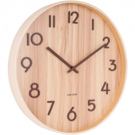 Pure Medium Light Basswood Wall Clock 40cm